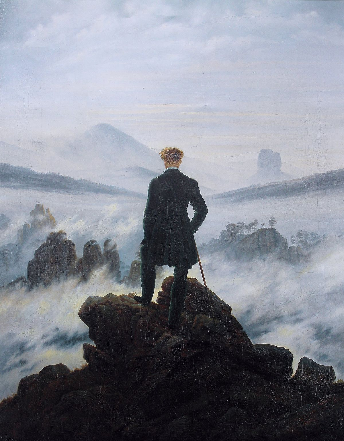painting of Wanderer above the Sea of Fog