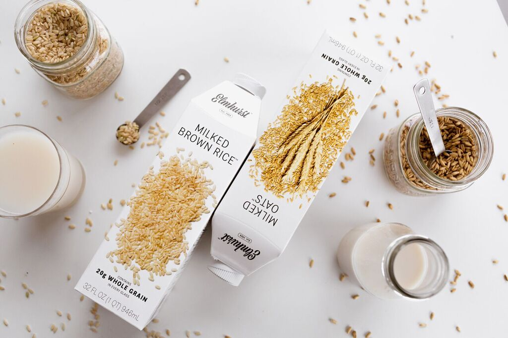cartons of milked oats & milked rice