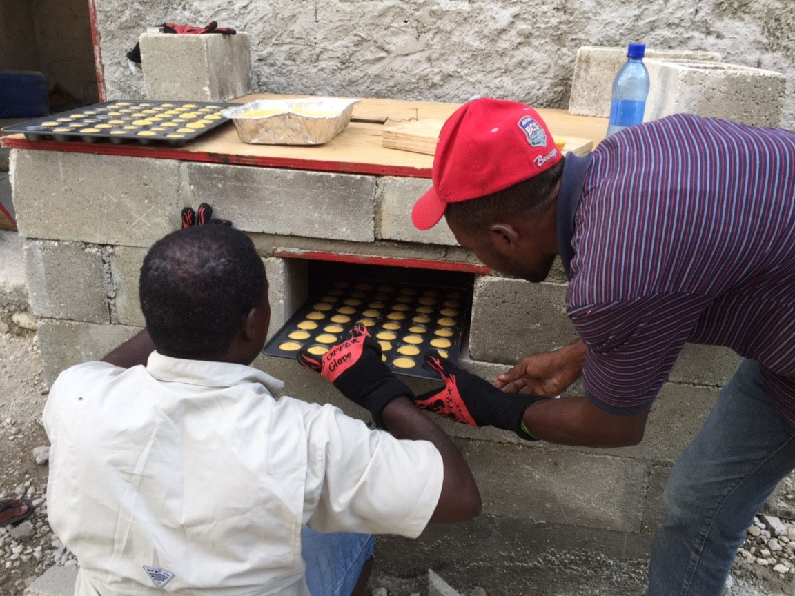 baking in Haiti