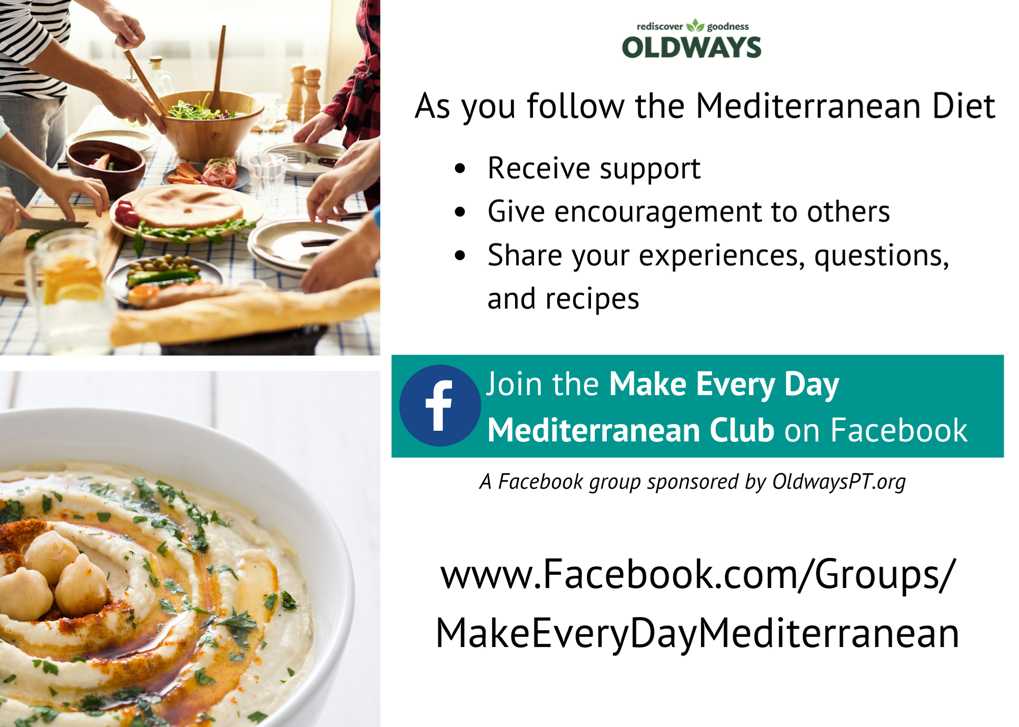 Invitation to join the Med Diet Facebook Group