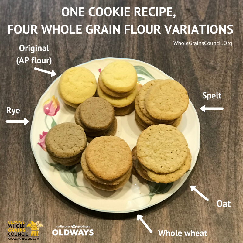 One Cookie Recipe, Four Whole Grain Flour Variations.png