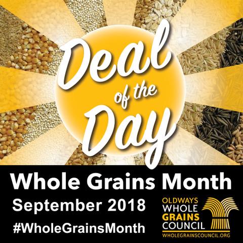 Whole Grains Month Social Media Logo 2018