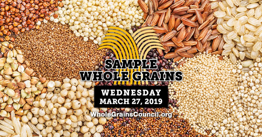 Whole Grain Sampling Day graphic for Twitter
