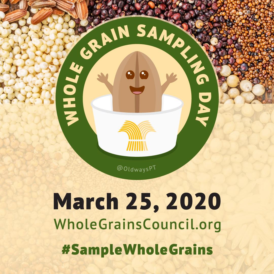 Whole Grain Sampling Day Mascot for Instagram