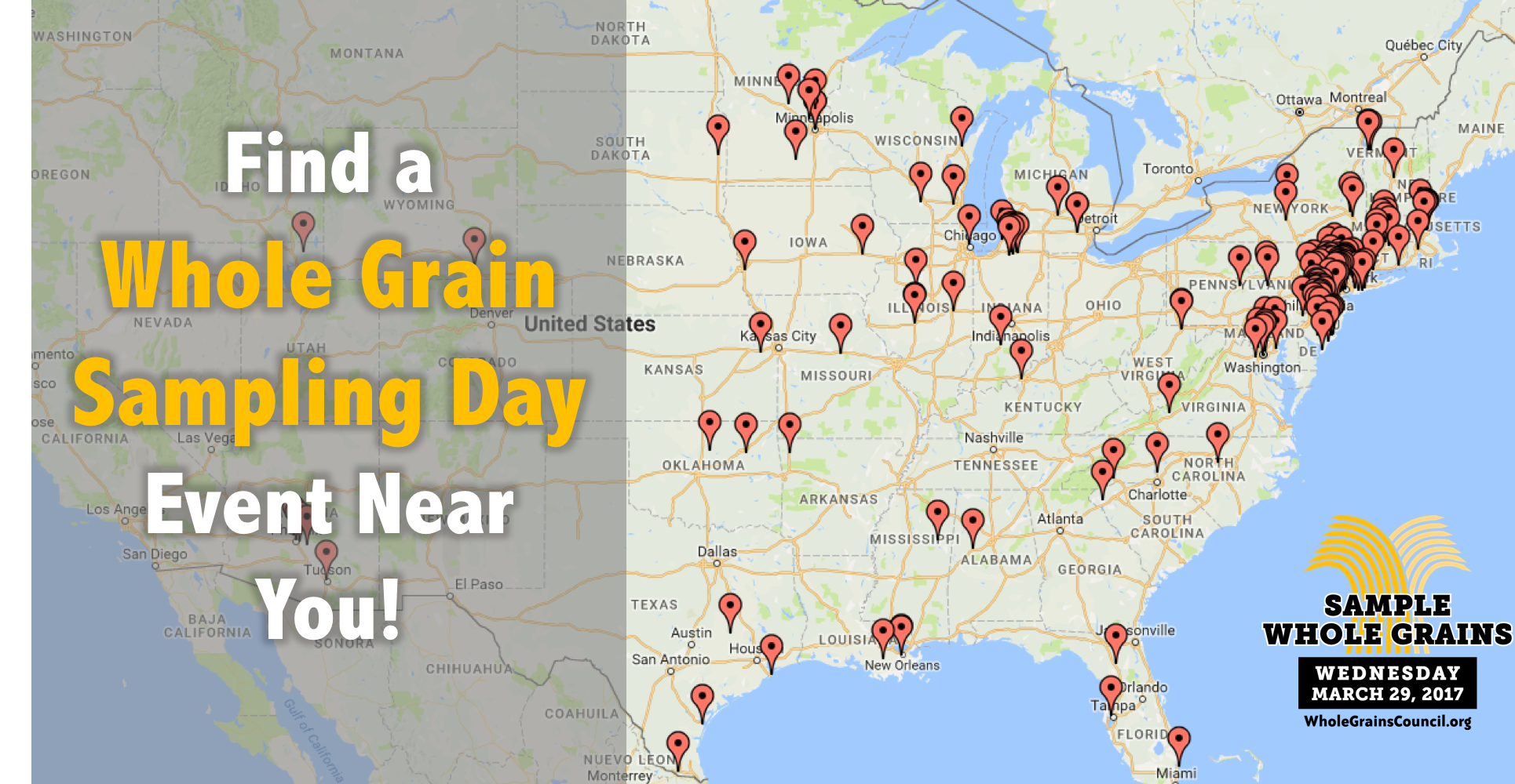 map of Whole Grain Sampling Day activities