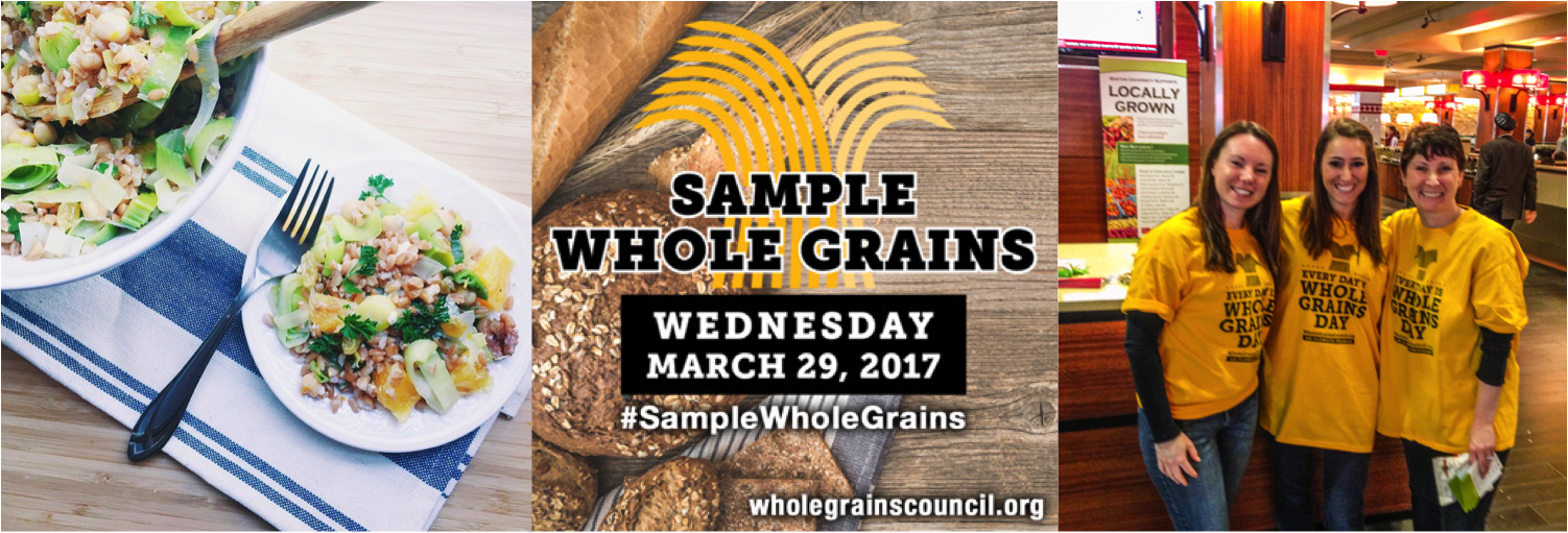 collage of photos from Whole Grain Sampling Day