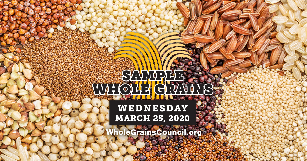 Whole Grain Sampling Day graphic for Facebook and Twitter