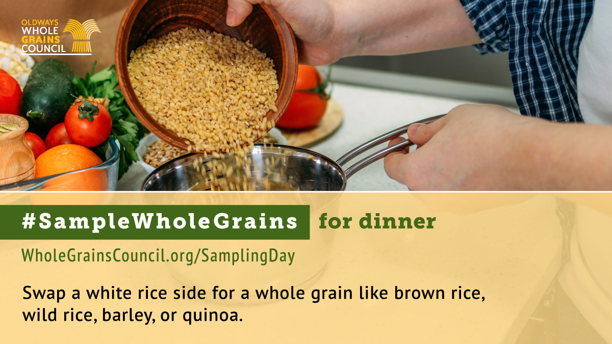 #SampleWholeGrains for dinner with brown rice photo