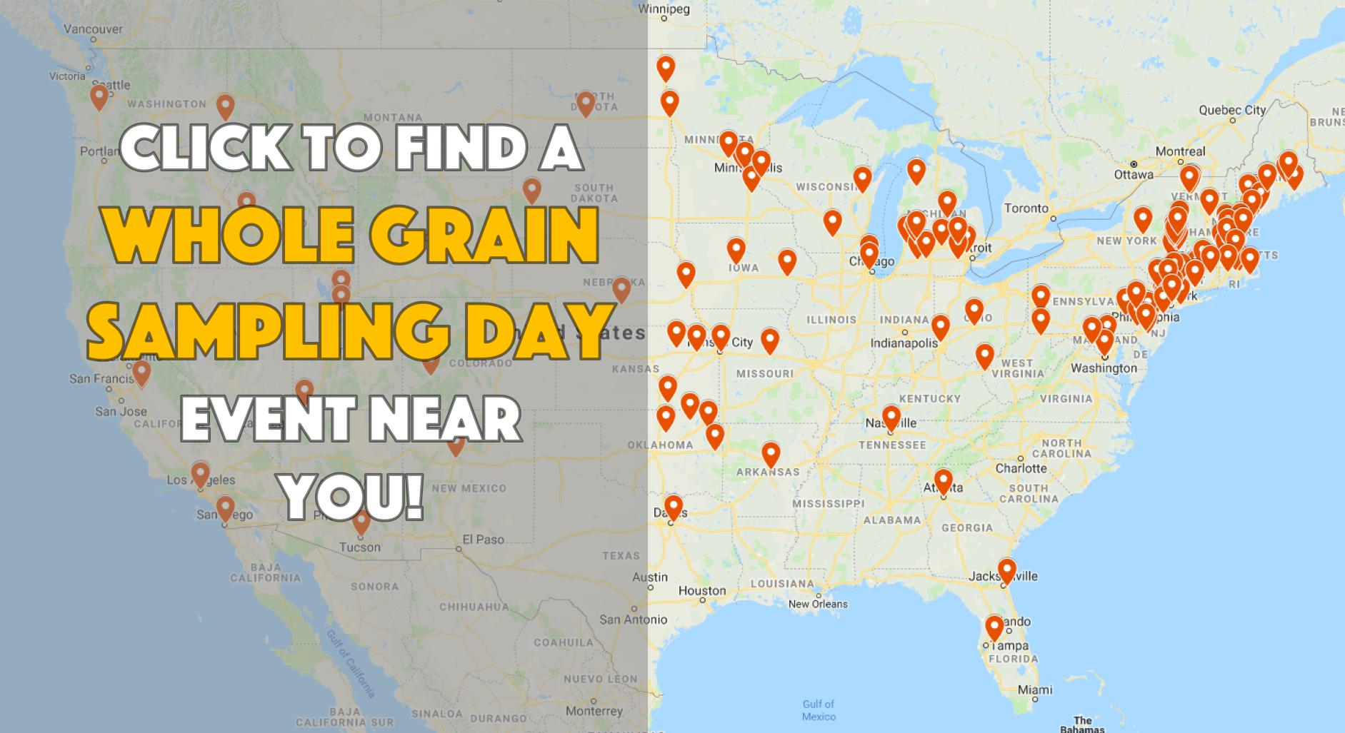 Whole Grain Sampling Day 2019 Map