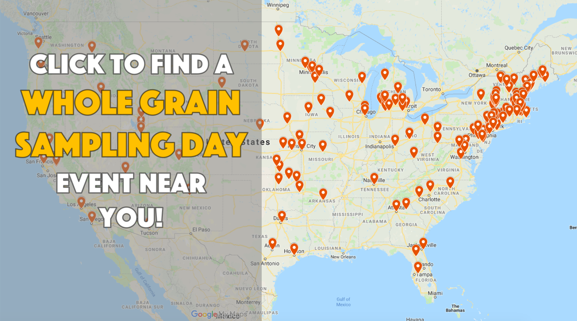Whole Grain Sampling Day 2019 Map