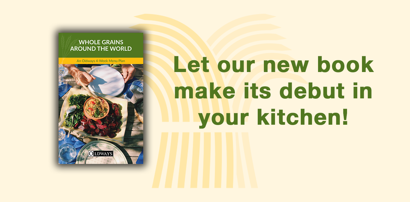 Banner that reads: Let our new book make its debut in your kitchen!