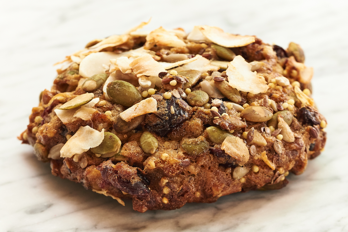 WHOLEflour Breakfast Cookie made with Millet. Image courtesy of Flour Bakery