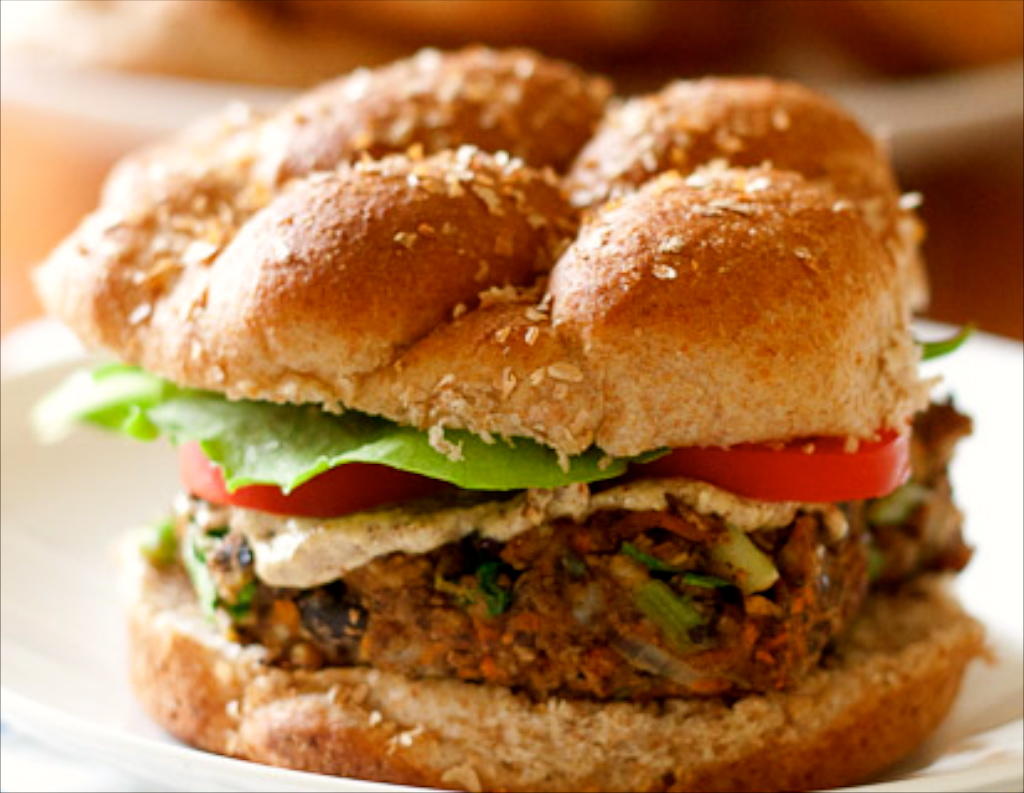 Bulgur Black Bean Veggie Burger