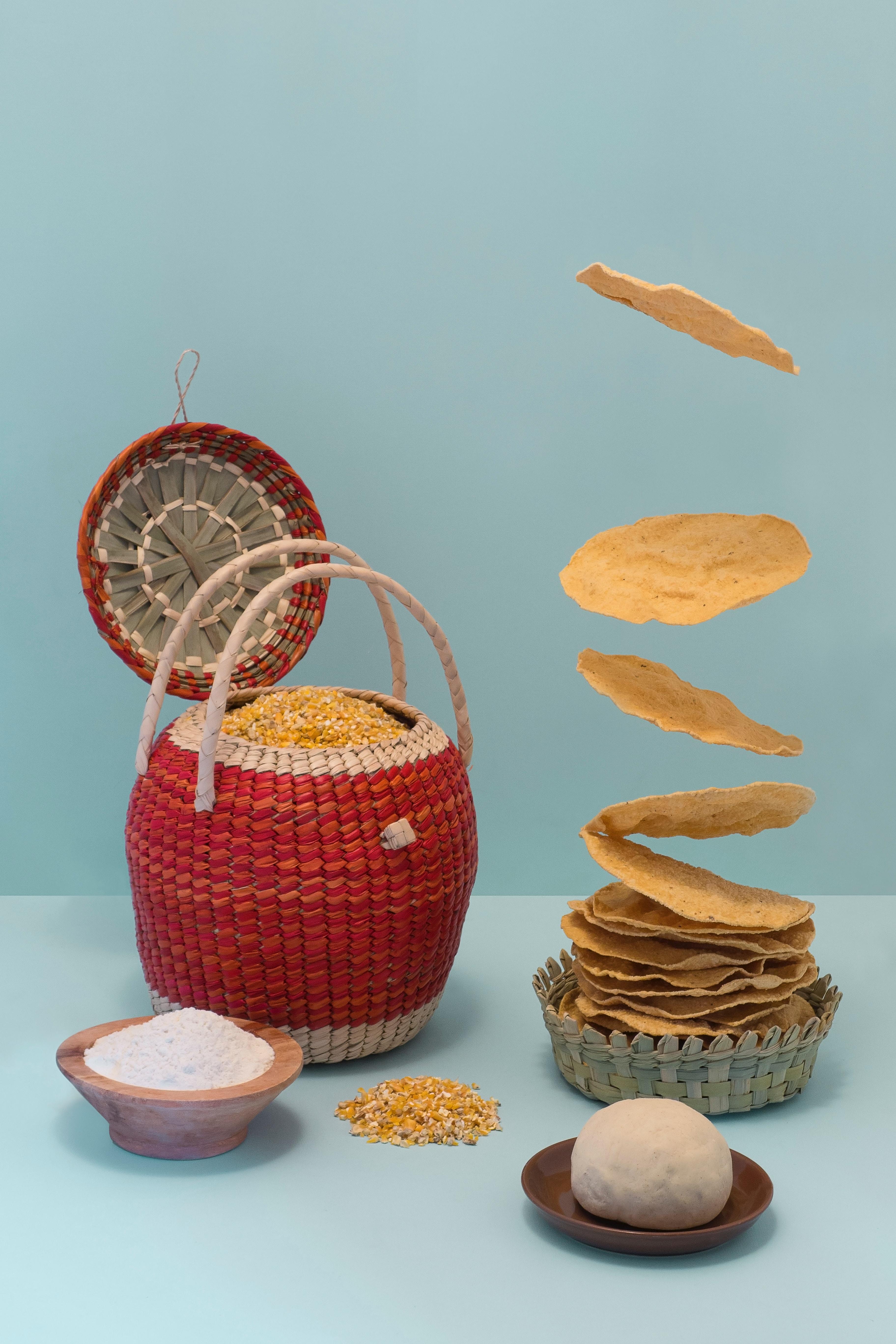 corn tortillas and basket