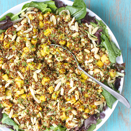 Curried Red Quinoa Salad