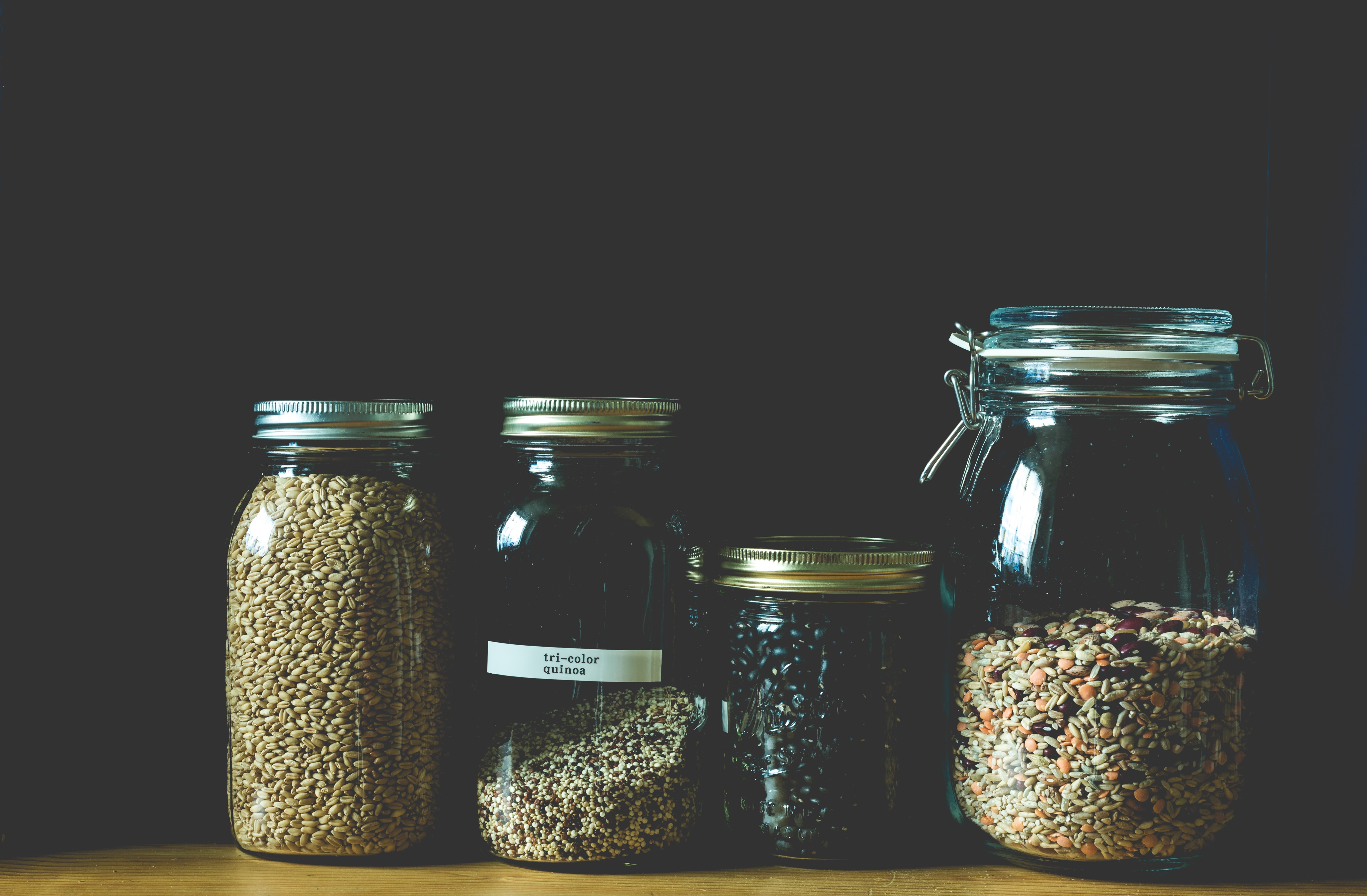Glass Jars of Grain
