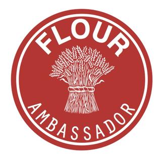 the Flour Ambassador badge with an image of a bundle of grain