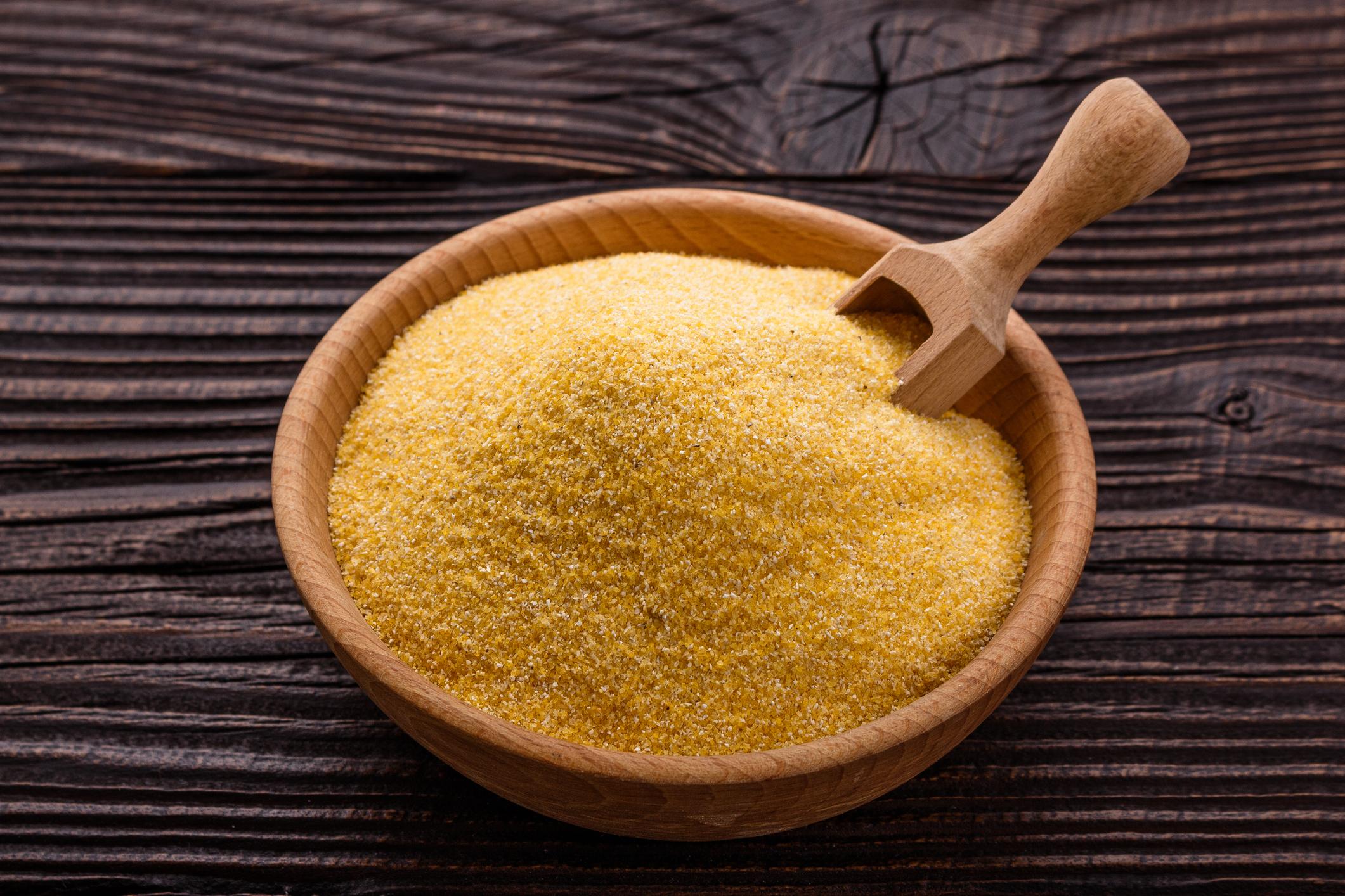 Bowl of cornmeal