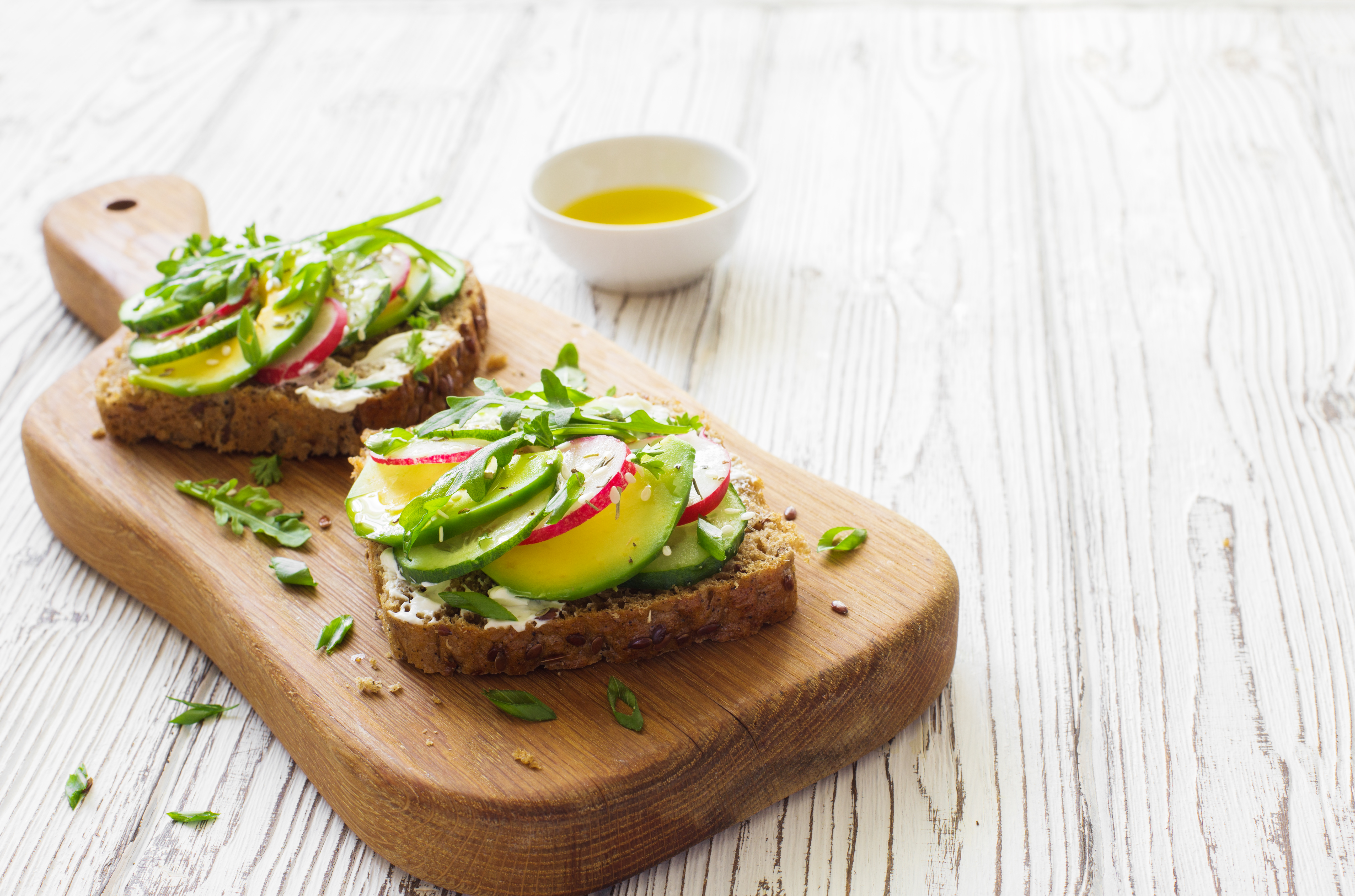 Open-faced Sandwich with Veggies