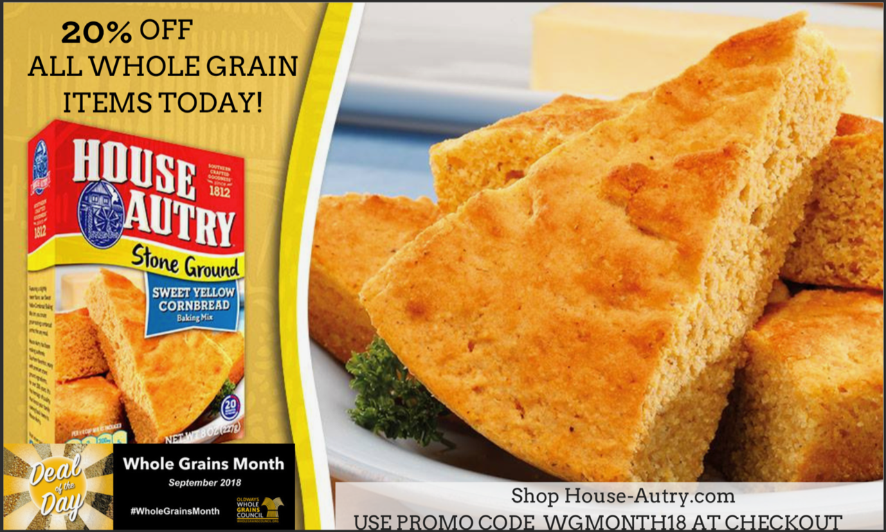 House-Autry Mill's Whole Grains Month promotional image