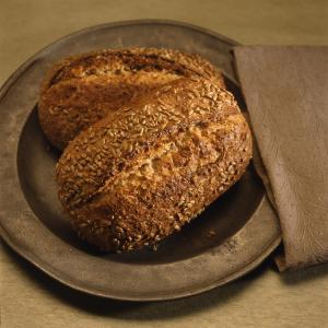 Whole grain bread is healthy.