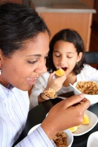 Family enjoying whole grains