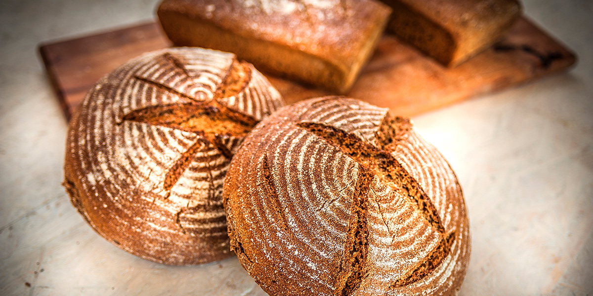 loaves of bread made from fresh ground flour