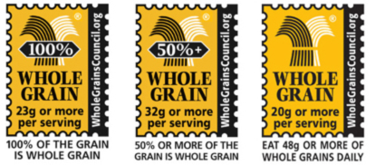 image of three Whole Grain Stamps