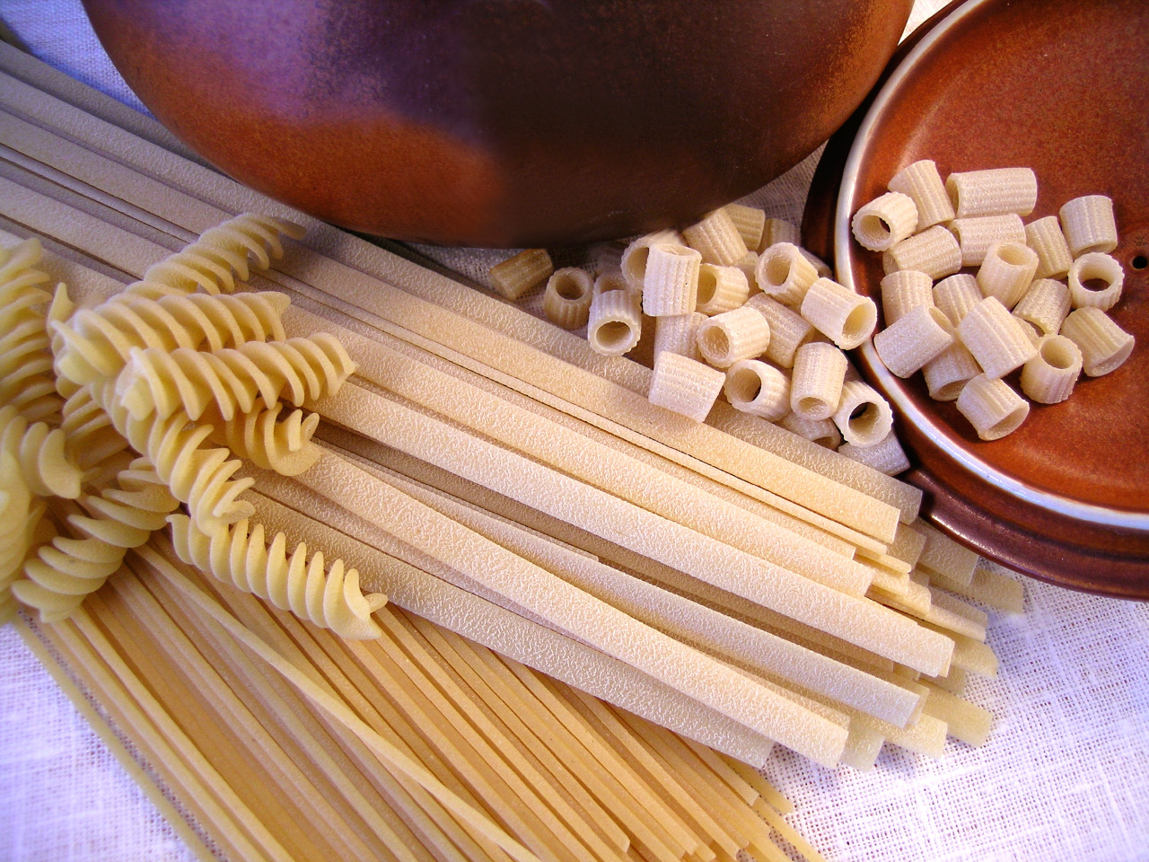 Kamut pasta in different shapes